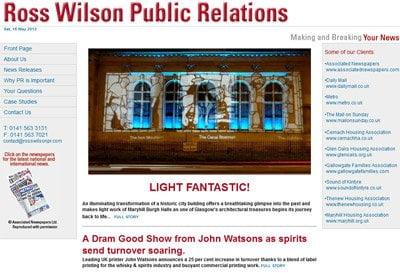 Ross Wison PR Website Design and Build