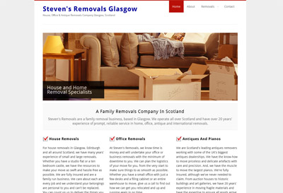Stevens Removals Wordpress Website Design